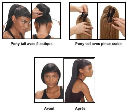 Le pony tail ou queue de cheval est devenu un accessoire